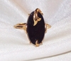 AVON Goldtone/Black Ring