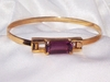 Avon Goldtone/Purple Bangle Bracelet