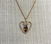 AVON Heart w/Topaz Rhinestone Necklace