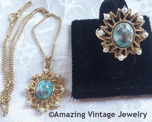 AZURE SKIES Necklace & Ring Set