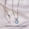 BIRTHSTONE PENDANT - March - Aquamarine