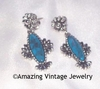 BLUE CLOUD Earrings Pierced