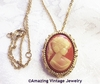 CAMEO LADY Pin & Necklace Set