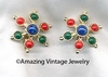 CARNIVAL Earrings - Red, Blue, Green
