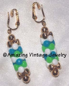 CAROUSEL Earrings Blue & Green