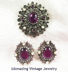 CATHERINE Pin & Earrings Set