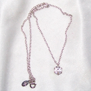 Clear Rhinestone Solitaire Necklace