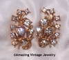 CONTESSA goldtone & RS Earrings