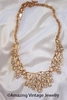 CONTESSA goldtone/RS Necklace