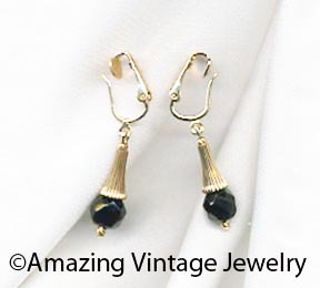 Dancing Jet Earrings