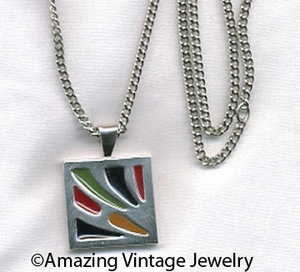 DANISH ABSTRACT Necklace