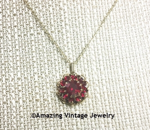 DEEP BURGUNDY Necklace
