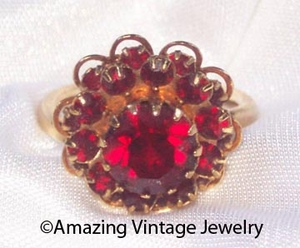 DEEP BURGUNDY Ring