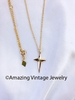 FAITH Cross Necklace - Goldtone