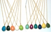 Colorful Teardrop Necklaces