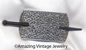 FASHION-HOLD Barrette - Pewter