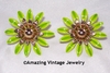 FASHION PETALS Earrings - Green