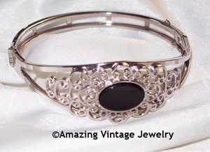 FILIGREE JET ONYX Bracelet - No chain