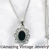 FILIGREE JET ONYX Necklace