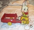 FISHER PRICE Cottontail Cart  1940