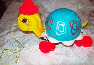 FISHER PRICE Tip-Toe Turtle 1962