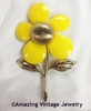 FLOWER FLATTERY Pin - Yellow