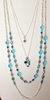 Four Strand GLASS BEADS Layered Necklace - BLUE