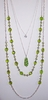 Four Strand GLASS BEADS Layered Necklace - Green