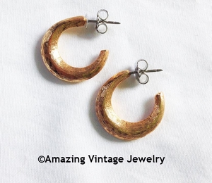 FREE STYLE Earrings - Goldtone