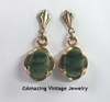 GENUINE JADE Earrings - Pierced