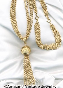 GOLDEN TASSEL Necklace/Bracelet Set