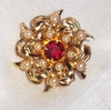 Goldtone/Faux Pearl Snowflake Scatter Pin