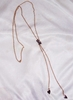 Goldtone Lariat Necklace with Hearts