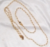 Goldtone Necklace & Bracelet Set