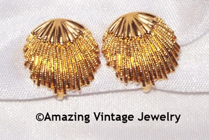 Goldtone Shell Earrings
