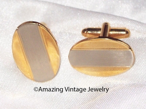 Goldtone/Silvertone Cuff Links