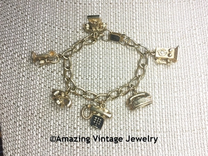HOSTESS Telephone Charm Bracelet