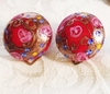 ITALY Red Glass Murano Earrings