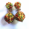 JAPAN Colorful Glass Bead Dangle Earrings