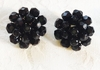 LAGUNA Black Glass Cluster Earrings