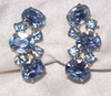 Light Blue Rhinestone Earrings