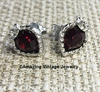 LOVE STORY Earrings - Garnet