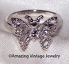 MADAME BUTTERFLY Ring - Silvertone