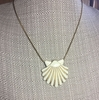 MONET Goldtone/Cream Enamel Shell Necklace