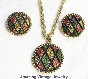MOSAIC Necklace & Earrings Set