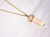 Natural Opal Pointed Stone Pendant Necklace