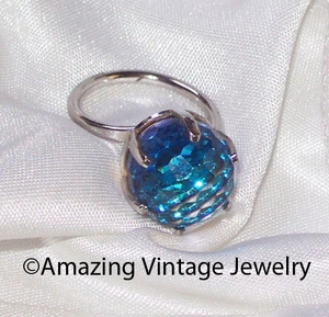 NEW BERMUDA BLUE Ring