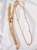 NOLAN MILLER Goldtone/Faux Pearl Necklace