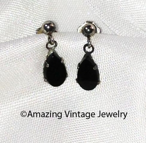 ONYX TEARS Earrings PE