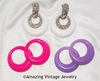 PASTEL PARFAIT Earrings - White, Pink,Purple